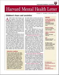 Harvard Mental Health Newsletter